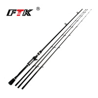 FTK Casting Fishing Rod High Carbon 2 SEC Fishing Rod Super Hard 2 1m 2 4m