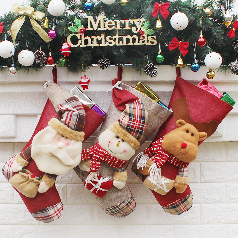 new year big size christmas stocking large size santa sacks gift bags wholesale christmas decorations for home noel navidad in stockings from womens