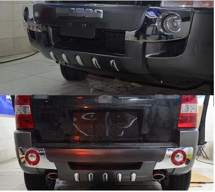 Protection de pare-chocs avant + arrière en chrome noir pour Hyundai Tucson 2006 2007 2008 2009 2010 2011 2012
