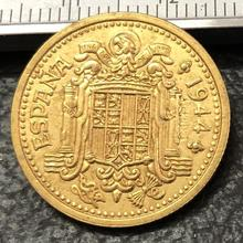 1944 Испания 2,5 Pesetas-Trial Strike шаблон имитация монеты