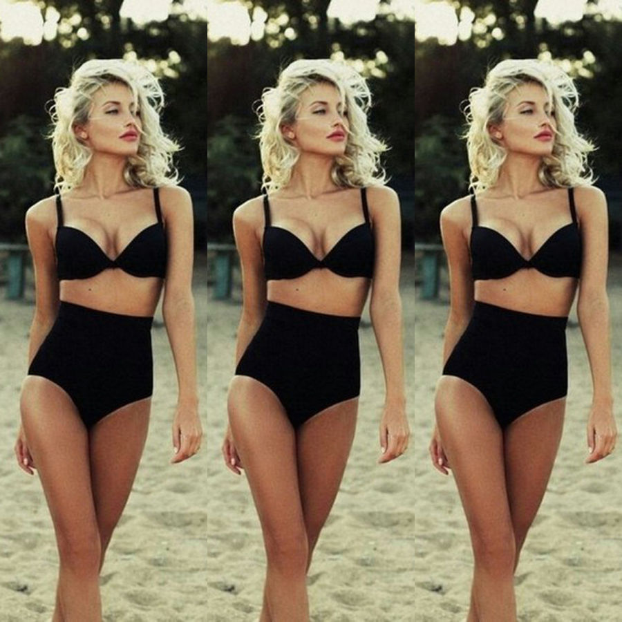 цена на 2017 Summer Swimming Costume Push Up Padded Bikini Set Monokini Swimwear Women Beach Tankini Swimsuit Bathing Suit