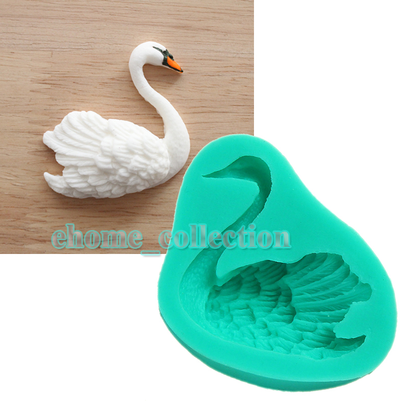 1XSwan Fondant Cake Mold Candy Cookies Silicone Molds Pastry Chocolate DIY Mould