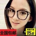 Мужчины Женщины тенденция большая коробка металлические очки кадр урожай очки кадр миопия не связанные с основной равнине зеркало