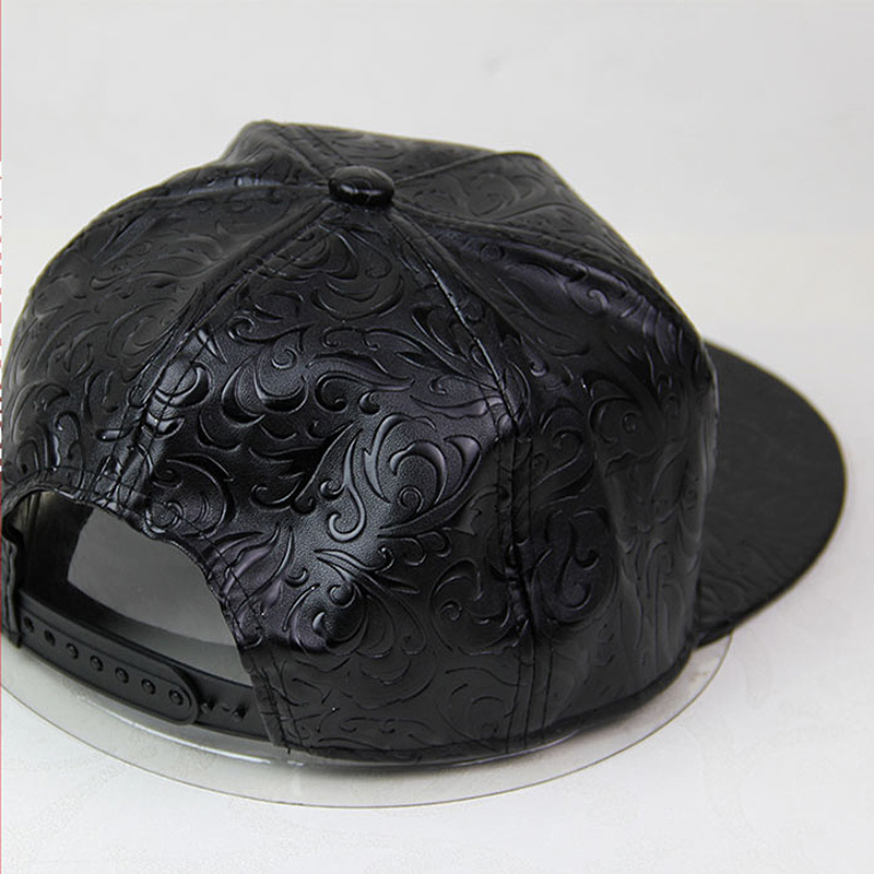 5a9a4ab20f521 Black polo hats stars printed leather snapback baseball cap hip hop men women  gorras planas snap back hat-in Baseball Caps from Apparel Accessories on ...