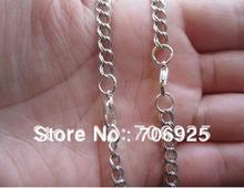 Free shipping Wholesale 30inch  Bronze Double loop necklace chain ,pocket watch chain  4mmx5mm  50pcs/lot