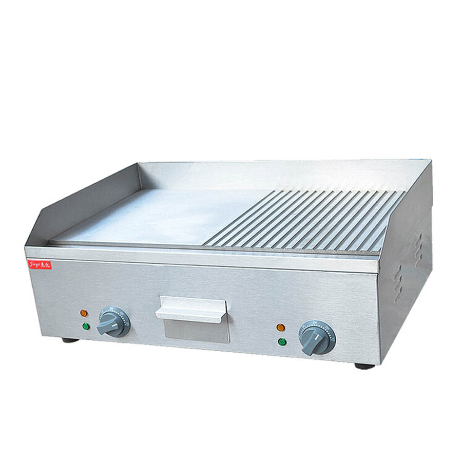 Stainless Steel Flat Pan Electric Grooved Griddle for Fried Picnic ...