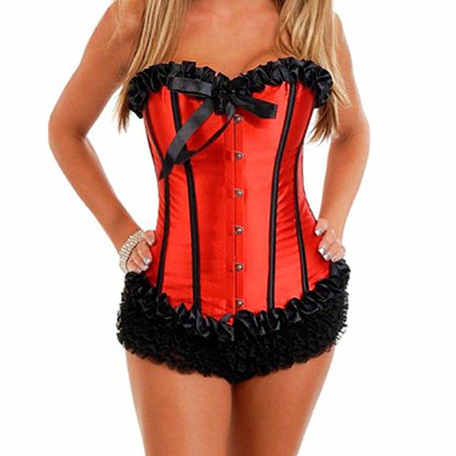 Nueva llegada de las mujeres del corsé de overbust, tamaño s-2xl, incluyen corset + g-string, envío libre m1720