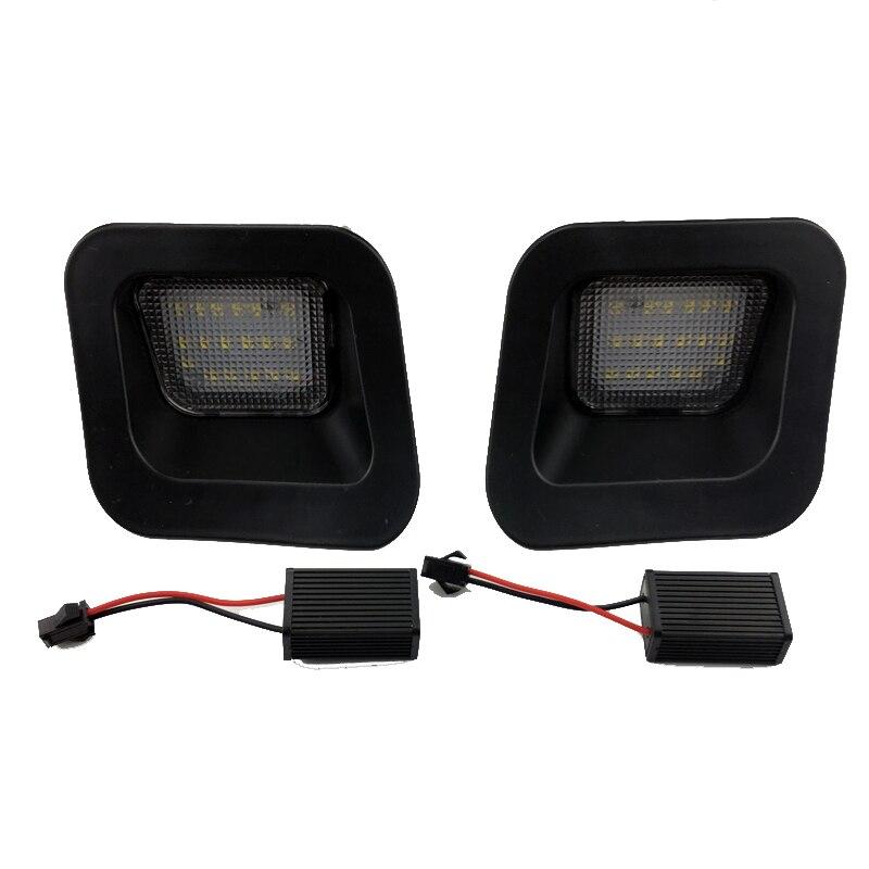 Qualité supérieure plaque d'immatriculation LED Lampe Pour Dodge RAM 1500 2500 3500 2003-2018/2 pièces Voiture Plaque D'immatriculation Lumière 3 w 6500 K