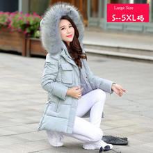 Winter Jacket Women Parkas Nice Hooded Raccoon Fur Collar Winter Jacket Thickening White Duck Down Coats Plus Size 5XL HJ213
