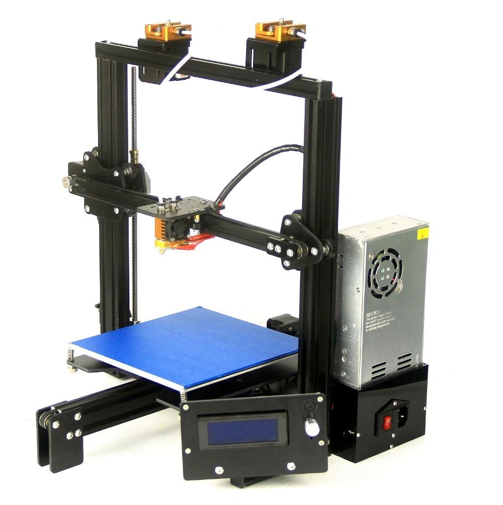 2018 Big Print Size 3D Printer Two Extruder Head Black