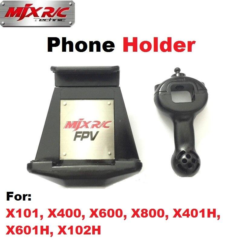 Original MJX Phone Holder For MJX X101, X400, X600, X800, X401H, X601H, X102H RC Drone Quadcopter Spare Parts FPV Bracket