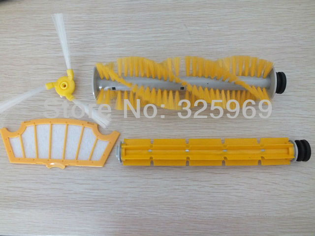 Cleaning Kit For A325 Robot Vacuum Cleaner Accessories HEPA Filter, Hair Brush, Rubber Brush, Side Brush