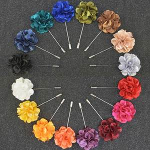 Men's Brooches Pin Jewelry Fabric Men Suit Neddle Floral-Lapel Wedding Fashion Flower