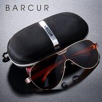BARCUR вождения поляризационные солнцезащитные очки для мужчин брендовые дизайнерские солнцезащитные очки для мужчин спортивные очки lunette de ...