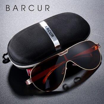 cc26dbcf23 Gafas de sol polarizadas de conducción BARCUR gafas de sol de marca de  diseñador para hombre gafas deportivas lunette de soleil homme