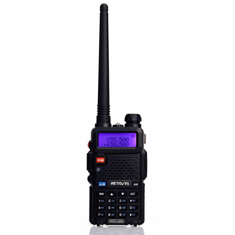 bilder für Retevis RT-5R Handliche Walkie Talkie 5 Watt Ham Radio Tragbare VHF UHF Dualband-transceiver Dual-band-funkgeräte-station Communicator A7105A