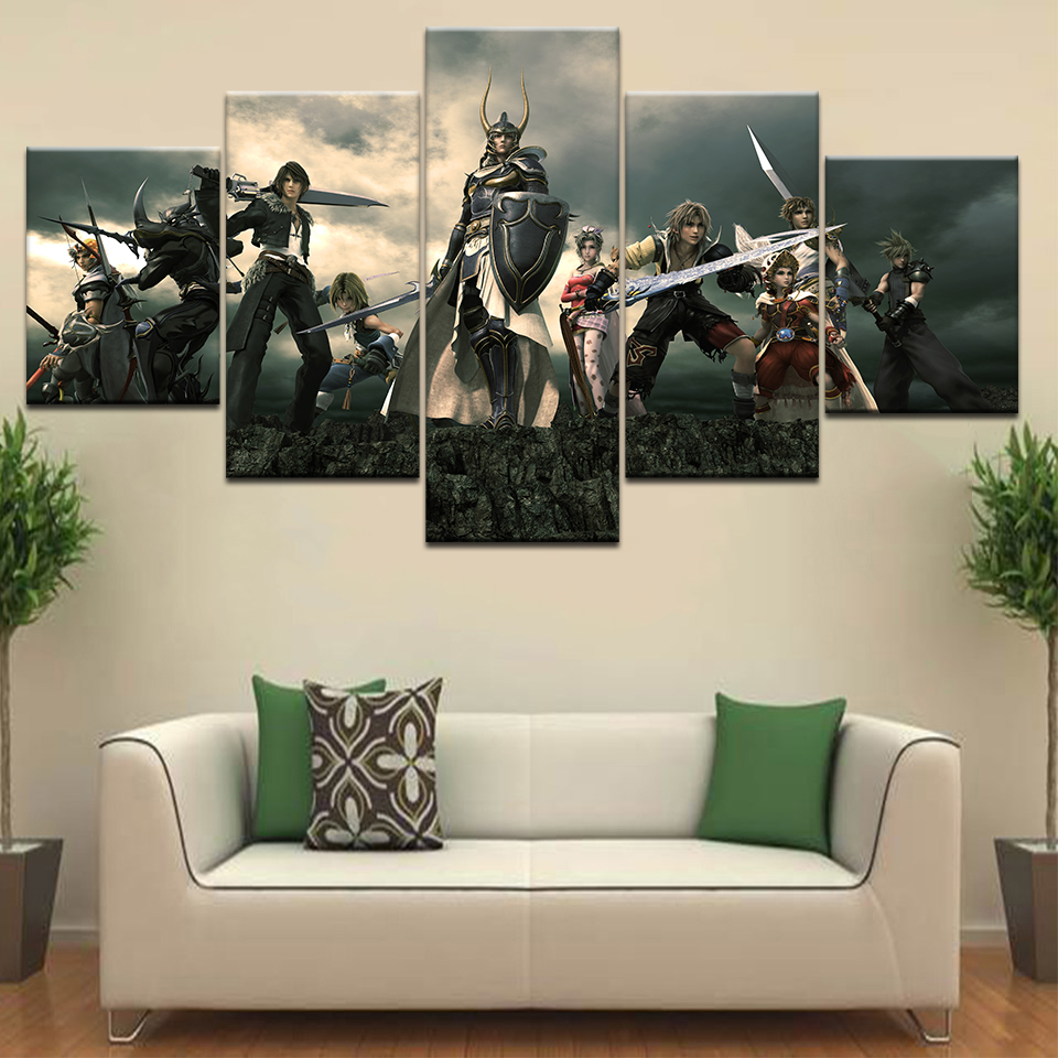 Fantasy Home Decor: Painting Canvas Printed Poster Modern 5 Panel Final