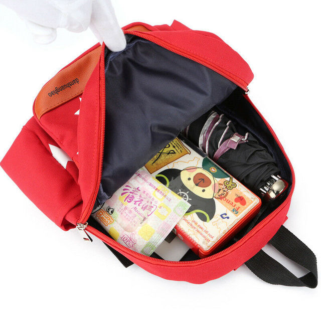 2020 Children Character Backpack Rucksack School Bag Personalised Star Pattern Zipper Kid Book 4 Colors New 5