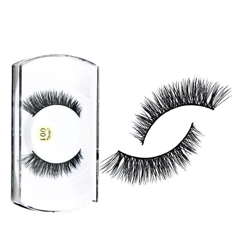 2Pair Natural Synthetic Hair Fake Eyelashes Long False Eyelashes Extensions Lashes Make Up Beauty Wimper Faux Cils Fake Lashes