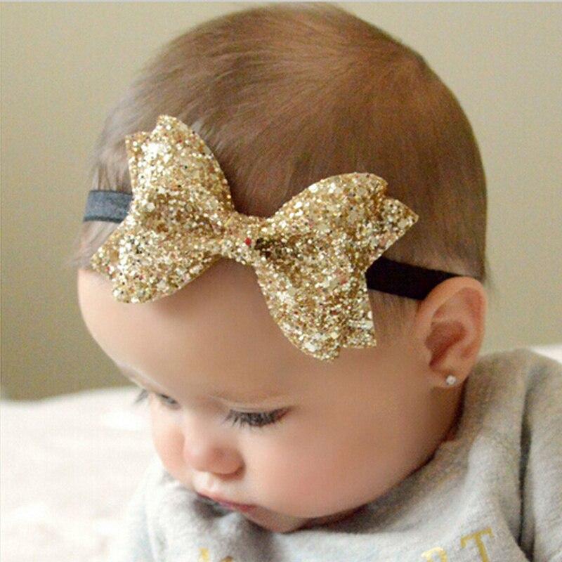 TWDVS New   Headwear   Cut Hair Bows Baby Flower Headband Girls Bow Knot Elastic Hair Bands Infant Children Hair Accessories W213