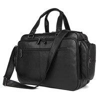 Nesitu большой Ёмкость шоколад черный из натуральной кожи Для мужчин дорожные сумки Курьерские Сумки 15,6 ''ноутбук Портфели портфель M7150