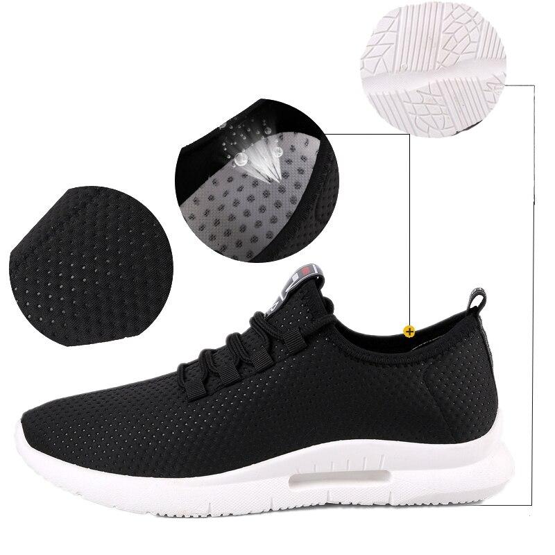 Pure Color Light Casual Shoes Mesh Cloth Men's Shoes Breathable Walking Jogging Shoes Large Size Men's Shoes 46 (4)