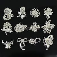 30Pcs Mixed Style Wedding Bridal Flower Bouquet Crystal Rhinestone Brooches Broach Pin Jewelry