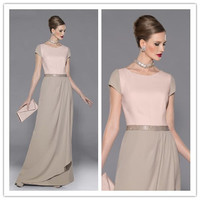 Grace Custom Made Gray Chiffon groom Mother of the Bride Dresses for Mom Bride Wedding Party Gowns abiye vestidos madrina BC40