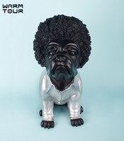 Фигурка бульдога с завивкой волос дизайн Современный Креативный уникальный персональный аксессуары для собак милая собака декоративные п