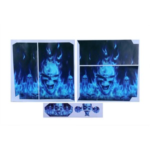Image 5 - Fire Skull Vinyl Decal Waterproof Sticker for PS4 for Sony PlayStation 4 Protector Cover +2 Stickers for PS4 Controller Gamepad