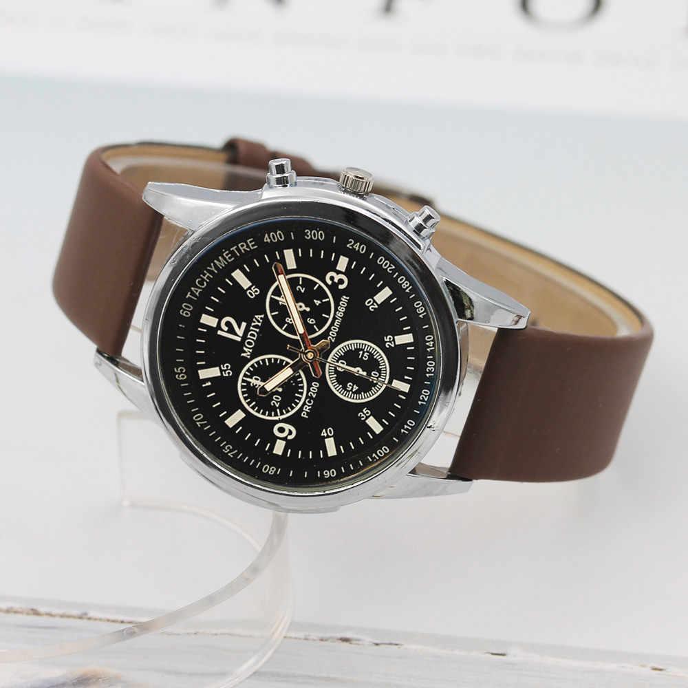 Ojo tres relojes de cuarzo de los hombres del movimiento reloj de pulsera Relojes de deporte reloj masculino 2019 nueva moda costo reloj para hombre reloj