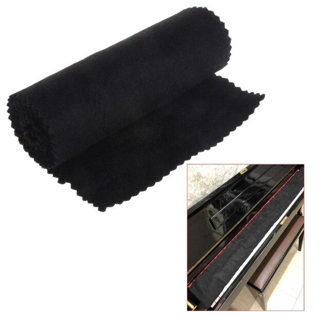 88 Keys Black Soft Piano Key Cover Keyboard Dust Proof Moisture Flannel Cloth 5