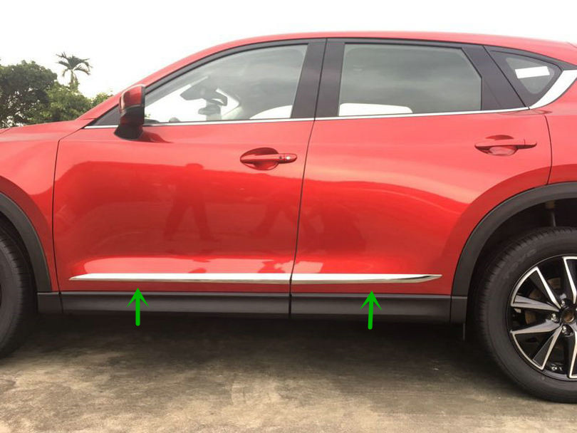 4pcs Accessories NEW! ABS Chrome Car Body Door Side Molding Trim Ring for Mazda CX 5 CX-5 2017 high quality abs chrome door side line garnish guard body molding cover case for 2012 2016 mazda cx 5 cx5 protector trim