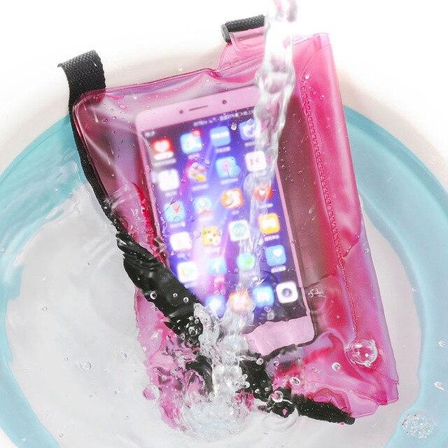 Waterproof Swimming Bag Ski Drift Diving Shoulder Waist Pack Bag Underwater Mobile Phone Bags Case Cover For Beach Boat Sports 2