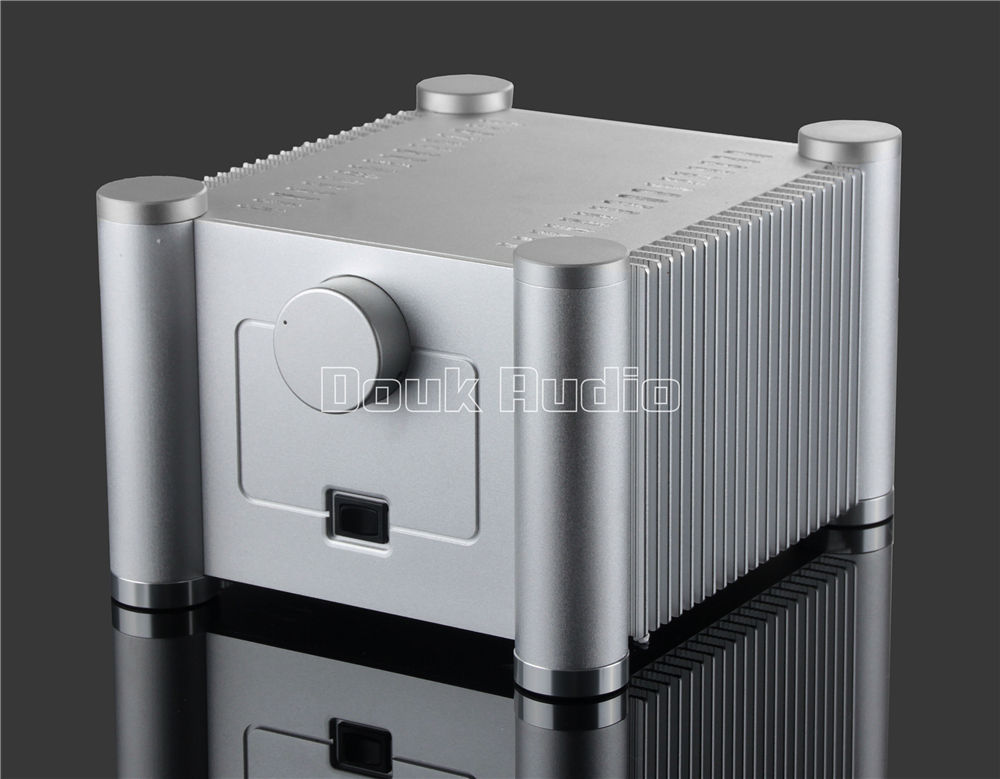 Two-layers Square Aluminum Enclosure Power Amplifier Chassis DIY Case White Box