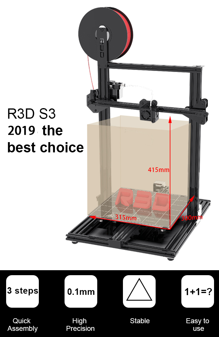 Createbot R3D S3 DIY 3D Printer