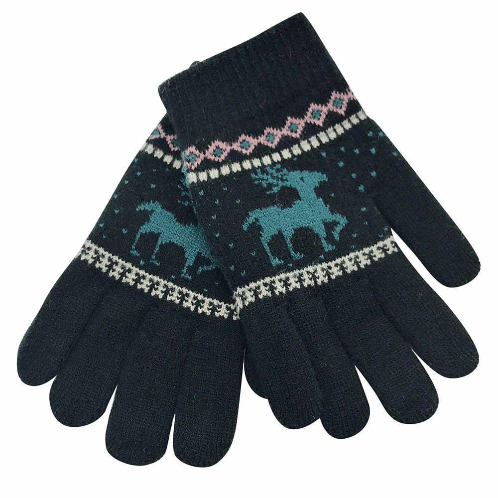 2018 Kerst Kinderen Winter Warm Cartoon Herten Volledige Vinger Wanten KnittedGloves Pasgeboren Hand Muff Jongens Meisjes Kids # EW
