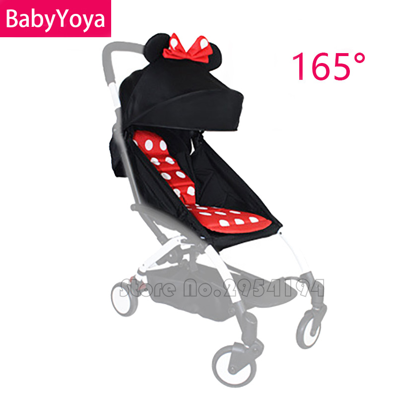 165°Sunshade Shed Cover Canopy /& Seat Pad Mat For Baby YOYO Stroller Accessories