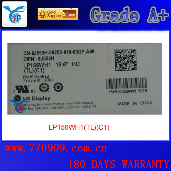ФОТО 180 days warranty&Grade A+ 1 CCFL LP156WH1-TLC1 laptop lcd touch screen