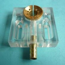 50x50x12 мм акриловая водяная струйная панель/Водяная распылительная охлаждающая пластина с латунным соплом, EDM проволочная резка высокоскоростная машина ношение частей