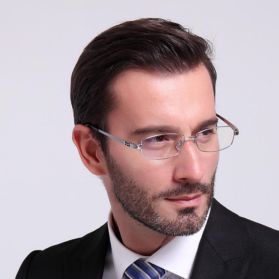 Мъжки очила с пълен обем чист титанов - Аксесоари за облекла - Снимка 2
