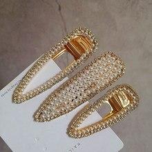 pearl hair clip pin korean accessories for women tiara pince accessoire cheveux rhinestone clips