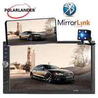 Autoradio 2 Din 7 inch LCD Touch screen auto radio cassette player Menü BLUETOOTH hände freies rückansicht kamera auto spiegel Link