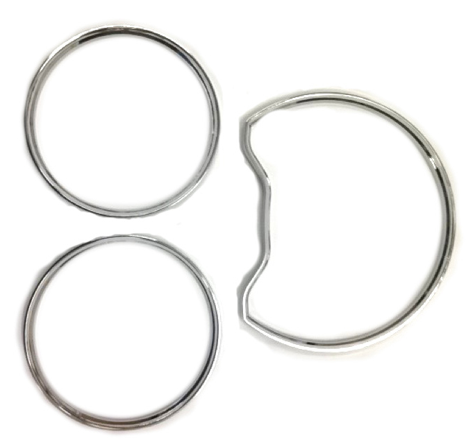Prix pour Chrome Styling Dashboard Ring Gauge Set pour Mercedes Benz W202 95-99