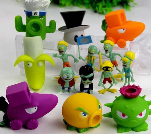 Game PVZ The Plants Vs Zombies Peashooter PVC Action Figure Model Marbles Plants Vs Zombies Simulators