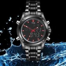 14ca89cbc22 TVG Mens 2019 Nova Moda Relógio Do Esporte Dos Homens de Quartzo de Aço  Completo Relógio Militar Analógico 30 M À Prova D  Água .