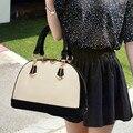 Free shipping 2014 shell bag black and white color block vintage embossed handbag one shoulder cross-body bags female