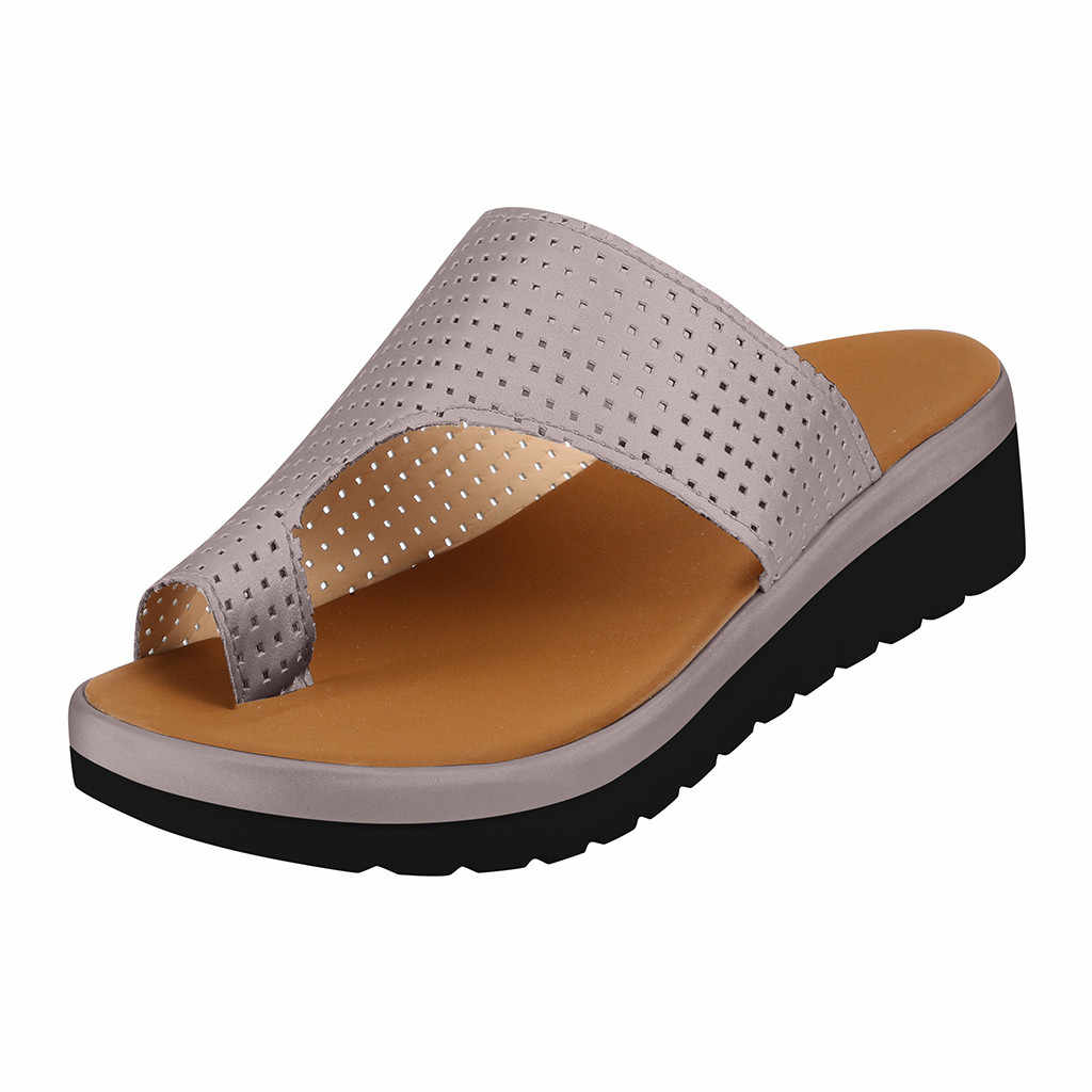 Slippers Women Thick Bottomed Sandal Shoes Wedge Heel Sandals Clip Toe Summer Sliders Beach Summer Shoes Woman zapatos de mujer