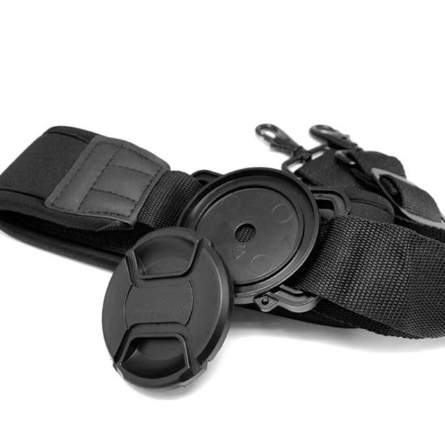 Camera Buckle Lens Cap Keeper Base Holder  40.5 52 55 58 62 67 72 77 82mm for canon nikons sony dlsr Lens Cap Protect Neck Strap