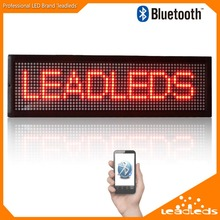 New Arrival 52.6 x 16cm Bluetooth LED Sign Board Programmable Scrolling Message Display Screen Indoor Red Color Led Light Panel